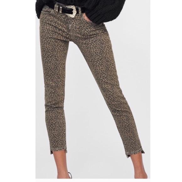 ZARA Z1975 Denim Animal Print Skinny Jean